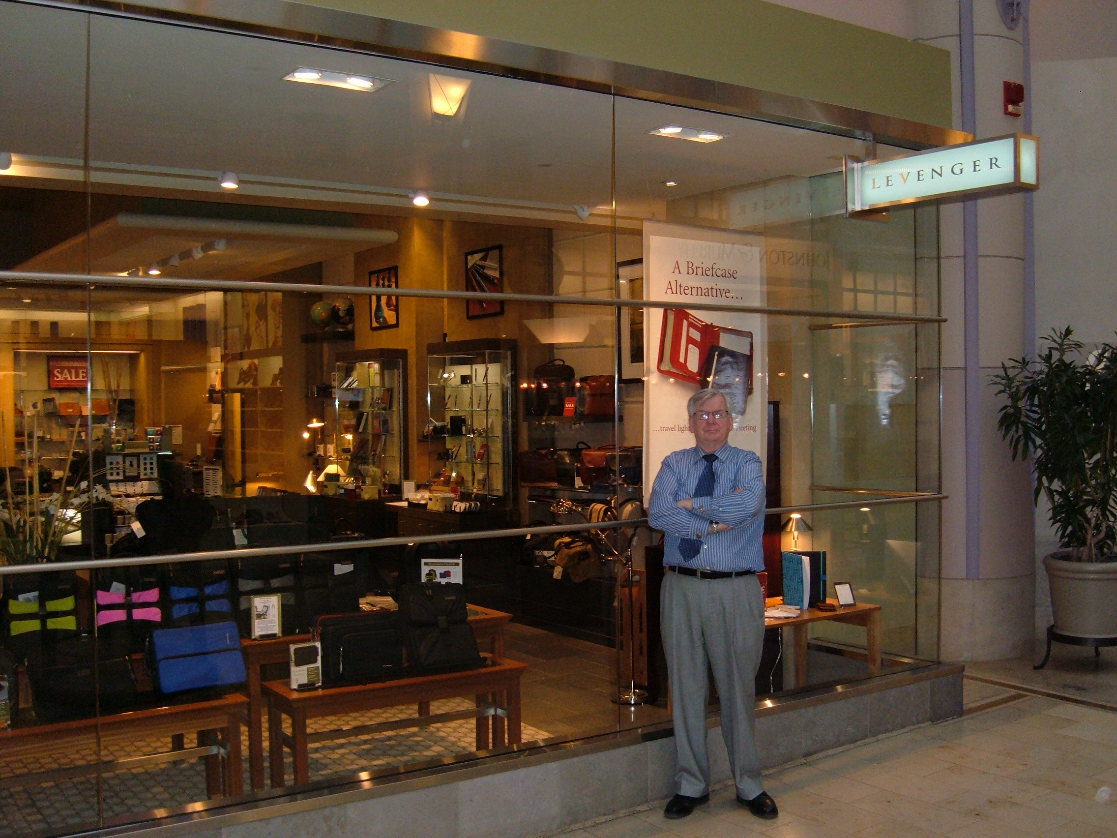 Bill Hallion, our store manager in our Boston Pru Center store, invites you to stop in when you're in town.