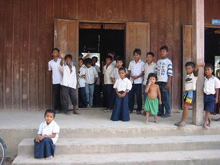 One-room school in Siem Reap, Cambodia