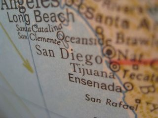 San Diego on my globe