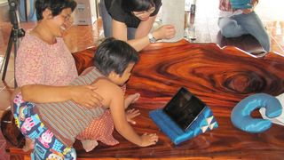Even the youngest enjoy using the Thai Pad