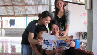 Aoh and her family take pride in seeing the Thai Pad in the catalog