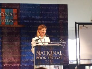 Dorie McCullough Lawson at National Book Festival podium