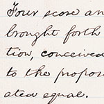 The beginning, from one of the five drafts Lincoln wrote