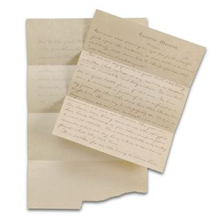 The first draft of the Gettysburg Address