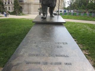 Churchill statue in England